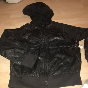 New Youth XS black zip up Old Navy light jacket